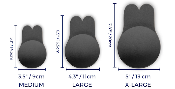Freedom Bra Sizes in Inches and Centimeters